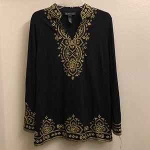 INC petite blouse